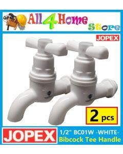 "(2pcs) 1/2"" BC01W JOPEX PVC Bibcock Tee Handle"