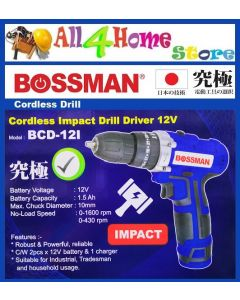 BCD-12I II BOSSMAN 12V Cordless Impact Driver Drill