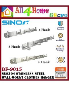 SINOR Heavy Duty SUS304 Stainless Steel Wall-mounted Clothes Hanger