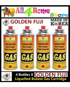 4 Bottles GOLDEN FUJI Butane Gas Cartridge for Gas Stove & Gas torch