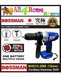BOSSMAN 20V Cordless Hammer Drill BHD13-20M (BARE MACHINE)
