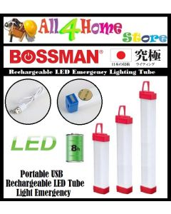 Portable USB Rechargeable LED Tube Light Emergency Lamp Camping Light with 3 Modes Light for Hiking Fishing Camping