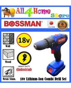 BMI-55 BOSSMAN 18V Lithium-Ion Battery Combi Drill Set (Industrial)