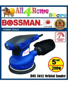 "280W 5"" BOSSMAN Orbital Sander  FOC sanding paper & dust collection bag"