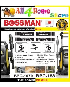 BOSSMAN BCP-188 2500W High Pressure Cleaner Water Jet Sprayer (180 Bar)