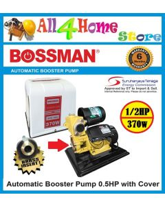 BOSSMAN 370W 0.5HP Auto Water Booster Pump with Cover ~BPS168L
