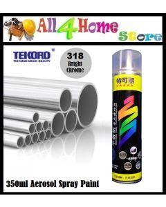 350ml TEKORO Chrome Aerosol Spray Paint For Metal Stainless Steel 318#