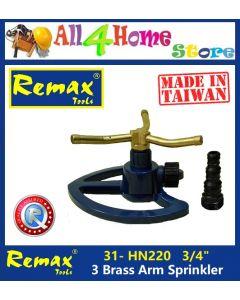 31- HN220 REMAX 3 Brass Arm Water Sprinkler (Made in Taiwan)