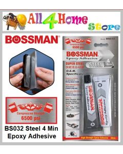 35ml BOSSMAN Epoxy Adhesive Steel - 4 Minute - BS032