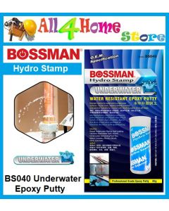 40g BOSSMAN Hydro Stamp ~UNDERWATER~ Water Resistant Epoxy Putty  - BS040