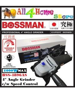 "BSS-4896AS 4"" BOSSMAN Angle Grinder c/w Variable Speed (SIRIM Approved)"