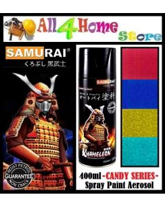 400ml SAMURAI Candytone Spray Paint -Red-Blue-Yellow-Green-