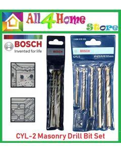 BOSCH 3pcs CYL-2 Masonry Drill Bit Set (6,8 & 10 mm) - 2608578124