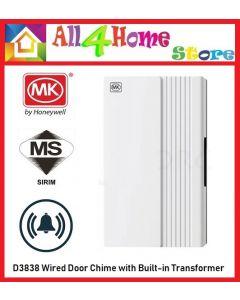 【SIRIM】MK D3838 Door Wired Chimes Main Voltage Doorbell