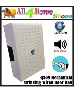 Q309 IWACHI Mechanical Striking Wired Door Bell (WHITE)