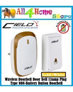Wireless Doorbell Door Bell 13amp Plug Type NON-Battery Button Doorbell Ding Dong Bell Door Chime(Doorbell)