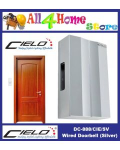 DC-888/CIE/SV CIELO Mechanical Striking Wired Door Bell - Silver Colour