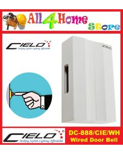 DC-888/CIE/WH CIELO Mechanical Striking Wired Door Bell - White Colour