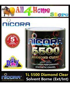 1 liter NICORA 5500 Diamond Clear - Solvent Borner (Exterior/Interior)