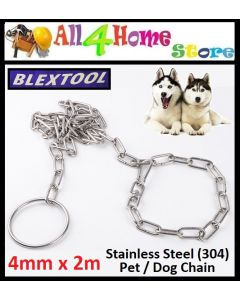 4.0mm x 2m BLEXTOOL Stainless Steel Dog Chain