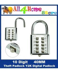 Button Combination Number Padlock 5 Digit Push Password Lock Luggage Travel Code Lock Padlock