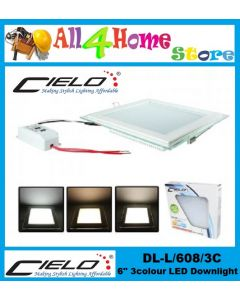 "6"" 16W CIELO 3C/SQUARE LED DOWNLIGHT (DL-608-3)"