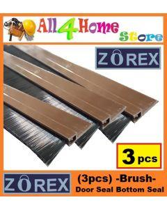 (3pcs) 1.0 meter ZOREX Brush Strip Door Seal Door Bottom Seal
