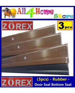 (3pcs) 1.0 meter ZOREX Rubber Strip Door Seal Door Bottom Seal