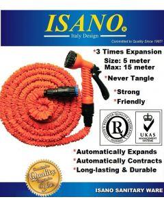"""1305EH """"ISANO"""" 15m Expandable Garden Hose W/Spray Gun"""