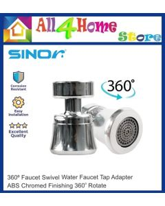 SINOR  Kitchen Bathroom Faucet Aerator 360 Degree Rotate Water Saving Faucet Tap Adapter Device  Sink Tap Nozzle Accessories Fittings Swivel S-05-A