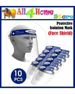 (Ready Stock)10pcs x Safety Face Eyes Protector Full Face Masks Baffle Block Face Shield Protective Cover Anti Splash Dust-proof Transparent Masks