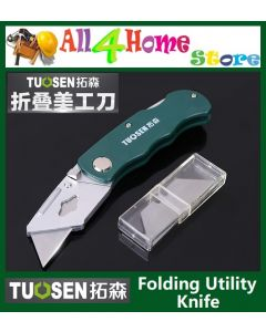 TUOSEN Folding Utility Knife c/w  5pcs blade replacement