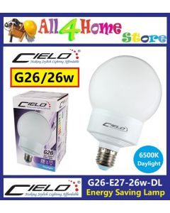 CIELO G26 E27 26watt Energy Saving Lamp Compact Electronic- Daylight
