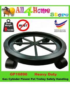 4 Roller Gas Cylinder Flower Pot Trolley Safety Handling - Heavy Duty