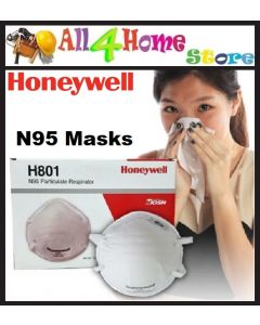 HONEYWELL H801 N95 Particulate Respirator Diposable Face Mask for Haze & Smoke - 1pcs
