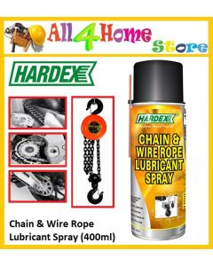 HD500 400ml HARDEX Chain & Wire Rope Lubricant Spray  - Pelincir Rantai dan Tali Wayar
