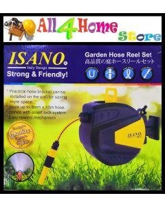 """5/16"""" x 10m ISANO Auto Retractable Hose Reel Set (IHG-01)"""