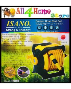 ISANO 20 Meter Stackable Hose Reel Set with Wall Mounting Garden Hose Reel Set