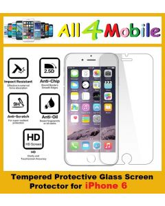 Apple iPhone 6 Clear HD Tempered Glass Screen Protector
