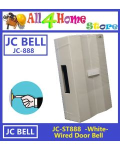JC-ST888 Mechanical Striking Wired Door Bell - White Colour
