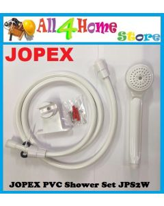 "[Ready Stock] JOPEX PVC Shower Set JPS2W c/w 60"" Flexible Hose & Bracket (Made in Malaysia)"