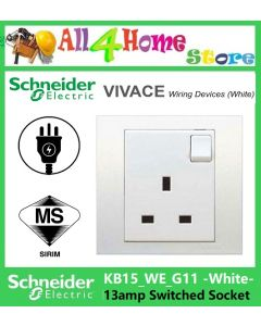 KB15 SCHNEIDER VIVACE 1Gang 13Amp Switched Socket