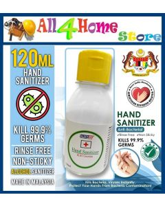 Kleenso Hand Sanitizer (120ml) Kill Germs with Benzalkonium Chloride Protect Your Hand