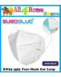 SUREBLUE KN95 4-ply Face Mask Ear Loop/ Folded Mask