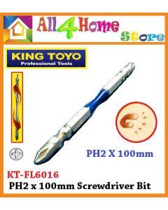 KINGTOYO Impact Screwdriver Drill Bit PH2 x 100mm KT-FL6016