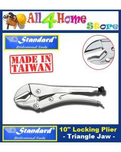 "10"" ""STANDARD"" Chrome Vanadium Locking Plier - Triangle Jaws"