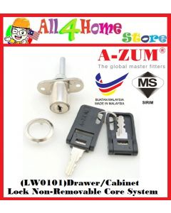 LW0101 A-ZUM Drawer/Cabinet Lock Non-Removable Core System