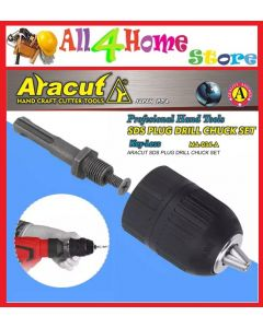 "[Ready Stock] ARACUT Heavy Duty 1/2""-13MM Drill Chuck Set (KEYLESS)"