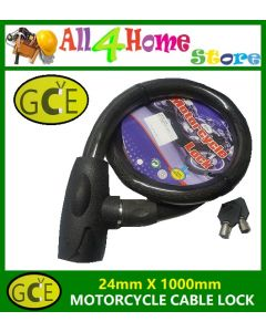 24mm x 1000mm GCE Motorcyle Cable Lock Multi Function Lock