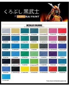 400ml SAMURAI Metallic Colour Spray Paint Aerosol